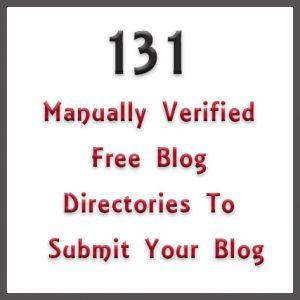 131 free blog directories