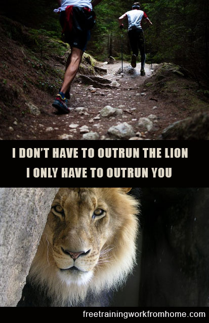 outrun the lion