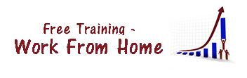 free training work from home logo