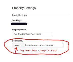 google analytics property settings