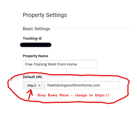 google analytics property settings