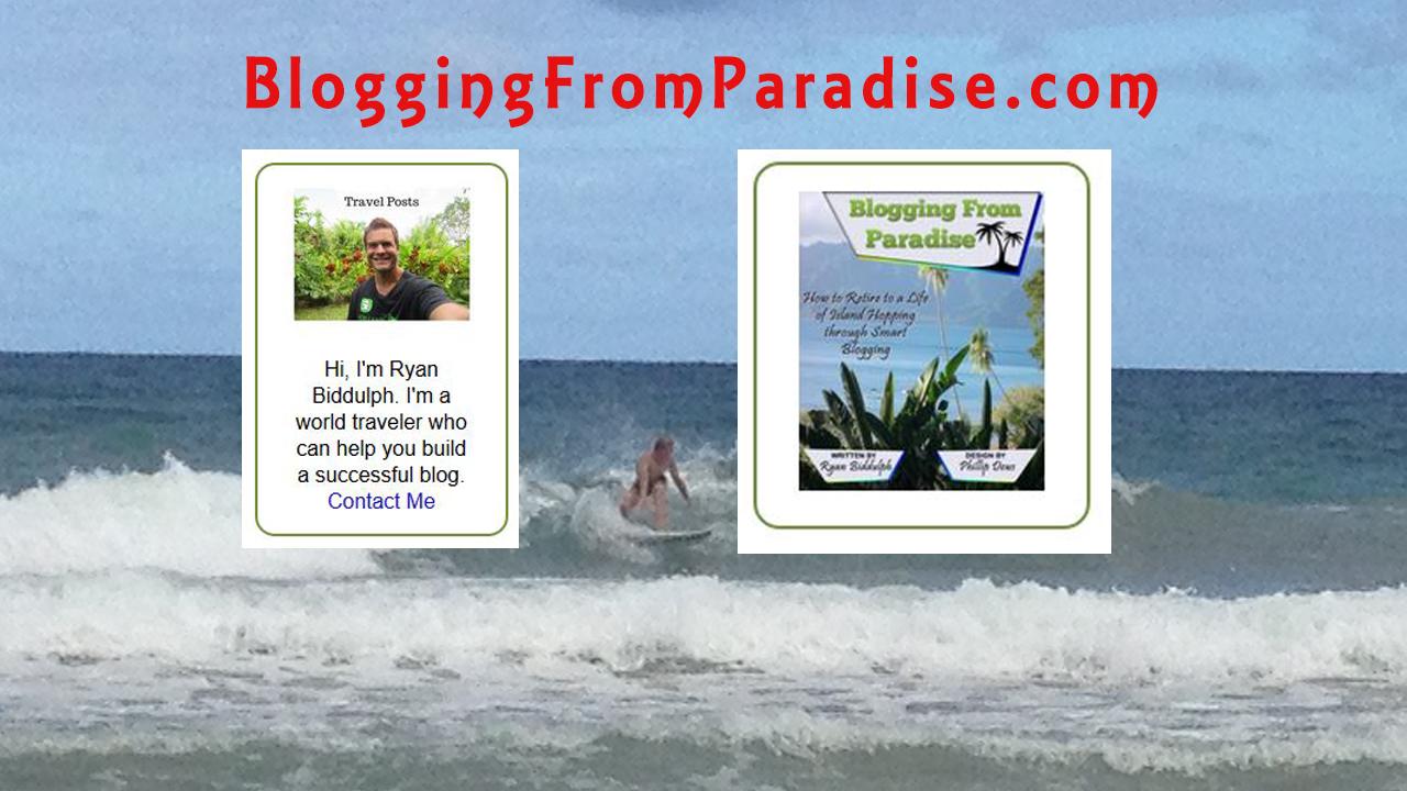 ryan blogging in paradise